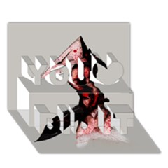 Pyramid Head Drippy You Did It 3d Greeting Card (7x5) by lvbart