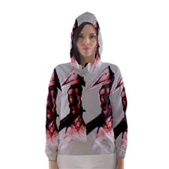Pyramid Head Drippy Hooded Wind Breaker (women) by lvbart