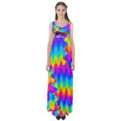 Amazing Acid Rainbow Empire Waist Maxi Dress by KirstenStar