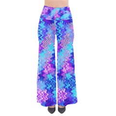 Blue And Purple Marble Waves Pants by KirstenStar