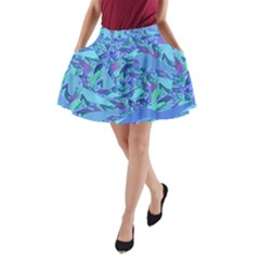 Blue Confetti Storm A-Line Pocket Skirt by KirstenStar