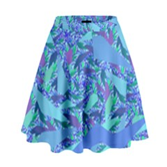 Blue Confetti Storm High Waist Skirt by KirstenStar