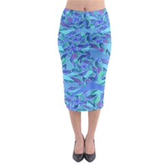 Blue Confetti Storm Midi Pencil Skirt by KirstenStar