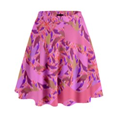 Bright Pink Confetti Storm High Waist Skirt by KirstenStar
