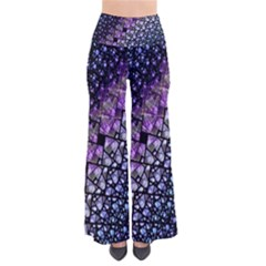 Dusk Blue And Purple Fractal Pants by KirstenStar