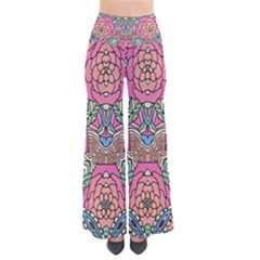 Petals, Carnival, Bold Flower Design Pants by Zandiepants