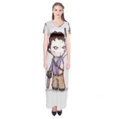Plushie Boomstick Short Sleeve Maxi Dress by lvbart