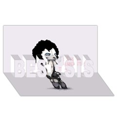 Rocky Horror Plush  Best Sis 3d Greeting Card (8x4)  by lvbart