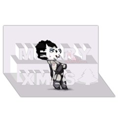 Rocky Horror Plush  Merry Xmas 3d Greeting Card (8x4)  by lvbart
