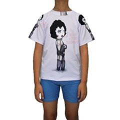 Rocky Horror Plush  Kid s Short Sleeve Swimwear by lvbart
