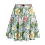 flower theme - High Waist Skirt