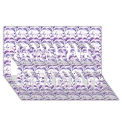 Floral Stripes Pattern Congrats Graduate 3d Greeting Card (8x4)  by dflcprints