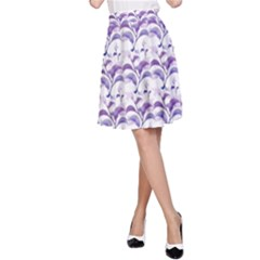 Floral Stripes Pattern A Line Skirt by dflcprintsclothing