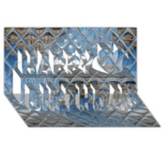 Mirrored Glass Tile Urban Industrial Happy Birthday 3d Greeting Card (8x4)