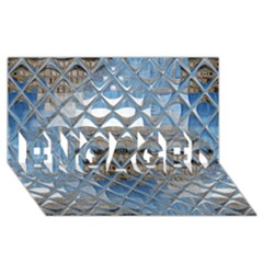 Mirrored Glass Tile Urban Industrial ENGAGED 3D Greeting Card (8x4)  by CrypticFragmentsDesign