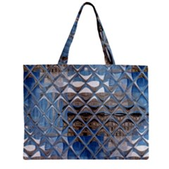 Mirrored Glass Tile Urban Industrial Zipper Mini Tote Bag by CrypticFragmentsDesign