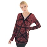 red pentagram top - Women s Tie Up Tee