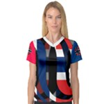 Norway Women s V-Neck Sport Mesh Tee