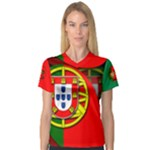 Portugal Women s V-Neck Sport Mesh Tee