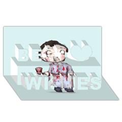 Plushie Bateman Best Wish 3D Greeting Card (8x4)