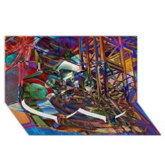 Las Vegas Nevada Ghosts Twin Heart Bottom 3d Greeting Card (8x4)  by CrypticFragmentsDesign