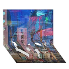 Las Vegas Strip Walking Tour Love Bottom 3d Greeting Card (7x5)  by CrypticFragmentsDesign