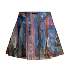 Las Vegas Strip Walking Tour Mini Flare Skirt by CrypticFragmentsDesign