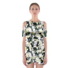 Camouflage_01 Women s Cutout Shoulder Dress by Wanni