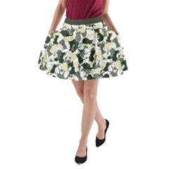 Camouflage 01 A Line Pocket Skirt by Wanni