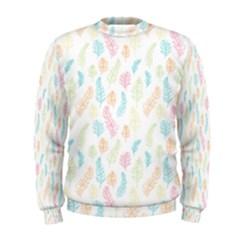 Whimsical Feather Pattern,fresh Colors, Men s Sweatshirt by Zandiepants