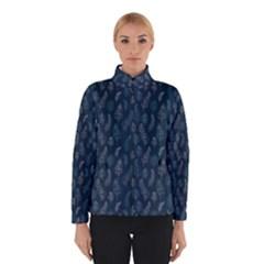 Whimsical Feather Pattern, Midnight Blue, Winterwear by Zandiepants
