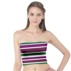 Purple Green Stripes Tube Top by BrightVibesDesign