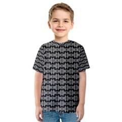 Black White Tiki Pattern Kid s Sport Mesh Tee by BrightVibesDesign