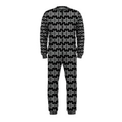 Black White Tiki Pattern OnePiece Jumpsuit (Kids) by BrightVibesDesign