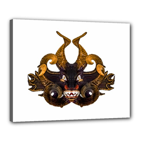 Demon Tribal Mask Canvas 20  X 16  by dflcprints