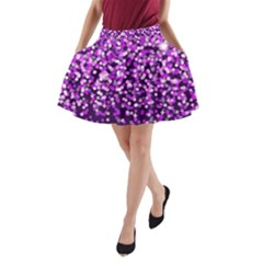 Purple Rain A-Line Pocket Skirt by KirstenStar