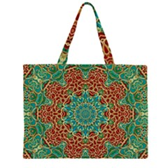 The Wooden Heart Mandala,giving Calm Large Tote Bag by pepitasart