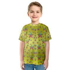 Flower Power Stars Kid s Sport Mesh Tee by pepitasart
