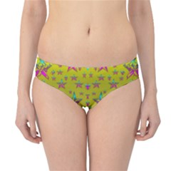 Flower Power Stars Hipster Bikini Bottoms by pepitasart
