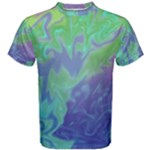 Green Blue Pink Color Splash Men s Cotton Tee