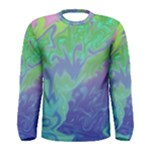Green Blue Pink Color Splash Men s Long Sleeve Tee