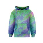 Green Blue Pink Color Splash Kids  Pullover Hoodie