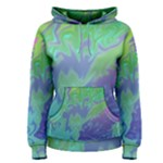 Green Blue Pink Color Splash Women s Pullover Hoodie