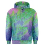 Green Blue Pink Color Splash Men s Zipper Hoodie