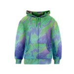 Green Blue Pink Color Splash Kids  Zipper Hoodie