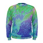 Green Blue Pink Color Splash Men s Sweatshirt