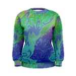 Green Blue Pink Color Splash Women s Sweatshirt