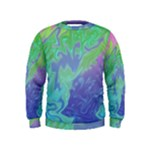 Green Blue Pink Color Splash Kids  Sweatshirt