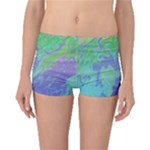 Green Blue Pink Color Splash Boyleg Bikini Bottoms