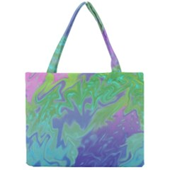 Green Blue Pink Color Splash Mini Tote Bag by BrightVibesDesign